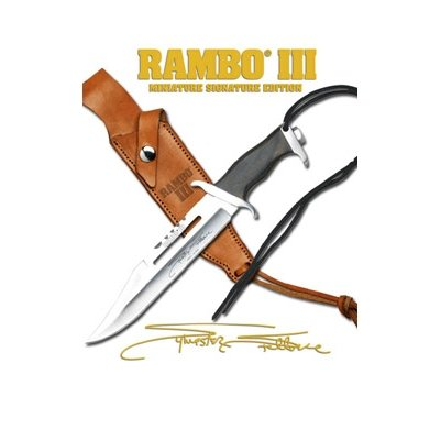 Officially Licensed RAMBO III MC-RBM3SS Officially Licensed Miniature Signature Edition Knife 7-Inch Overall, Outdoor Stuffs