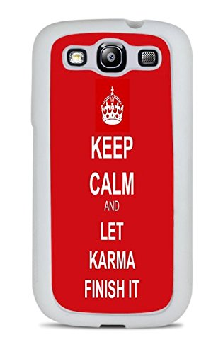 Trendy Keep Calm Phone Case White Silicone Case for Samsung Galaxy S3