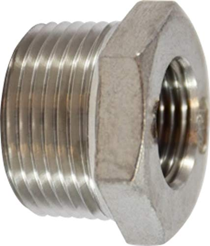 150# Midland 62-510 304 Stainless Steel Hex BUSHING 1 Male x 1//4 Female thread Size 304 Stainless Steel 1 Male x 1//4 Female thread Size Midland Metal