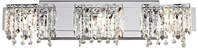 "Possini Euro Design Crystal Strand 25 3/4"" Wide Bath Light"