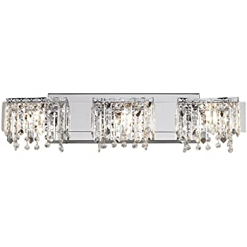 Possini euro design crystal strand 25 34 wide bath light possini euro design crystal strand 25 34quot wide bath light mozeypictures Choice Image