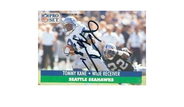Tommy Kane Autographed Football Card Seattle Seahawks 1991 Pro Set