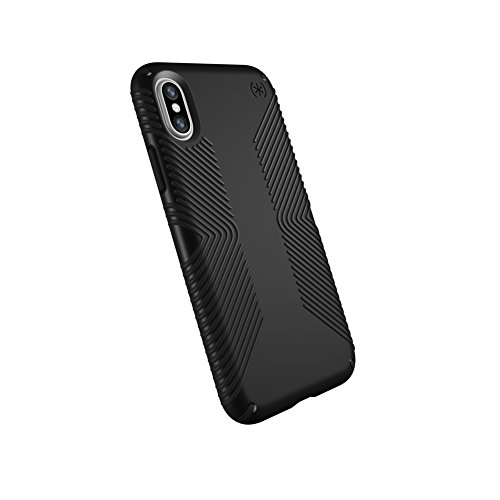 Speck Products Presidio Grip Case for iPhone X, Black/Black