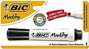 Pincel Marcador BIC Marking, Ponta Redonda, Preto, 904204, 1 unidade