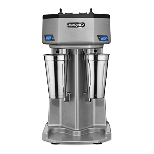 Waring Commercial WDM240T Double Head Drink Mixer with Timers, Silver