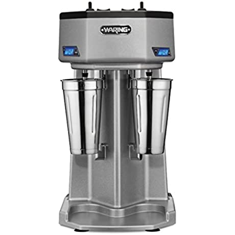 Waring Commercial WDM240T Double Head Drink Mixer With Timers Silver