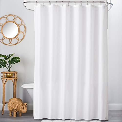 (TreeLen Hotel Collection Shower Curtain Liner, Eco-Friendly PEVA Plastic 10Gauge 72
