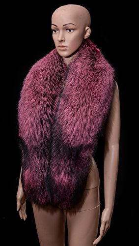 Royal Saga Furs Pink Silver Real Fox Fur Winter Shoulder Wrap Scarf Boa Stole by Your Furrier