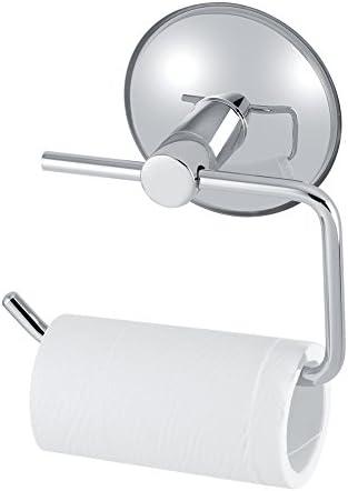 トイレットタオルホルダー、トイレットペーパーペーパーホルダー、ステンレス鋼のバスルームトイレの吸引カップペーパーロールホルダーバーウォールマウントラック
