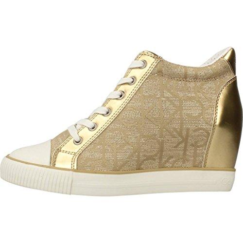 Calzado deportivo para mujer, color gold , marca CALVIN KLEIN, modelo Calzado Deportivo Para Mujer CALVIN KLEIN RAMONA METALLIC JACQUARD NAP Gold Metálico