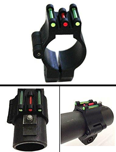 Ultimate Arms Gear 12 Gauge/Shotgun Glowing Red & Green O.P.S. On Point Plain Barrel Front Triple 3 Fiber Optic Sight Winchester 1200/1300/Super X SXP X3 Pump Action Sporter