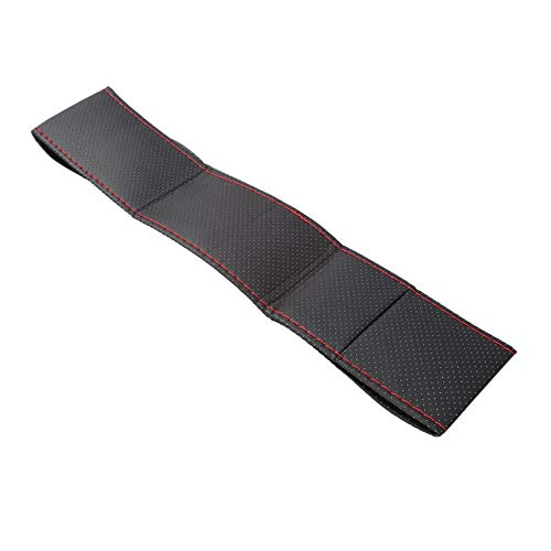 Pudincoco 3 couleur bricolage texture douce couverture de voiture automatique couvercle du volant avec des aiguilles et des fils de voiture en cuir artificiel couvre suite