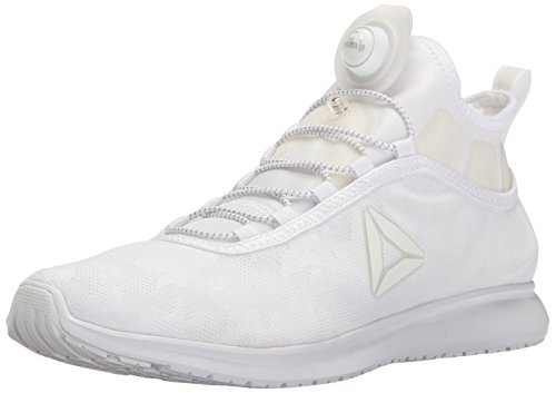Reebok Men's Pump Plus Camo Running Shoe, White/White, 8 M US