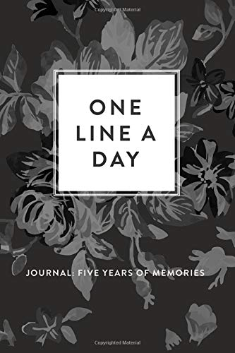 one line a day journal five years of memories greyscale floral 6x9 diary dated and lined book