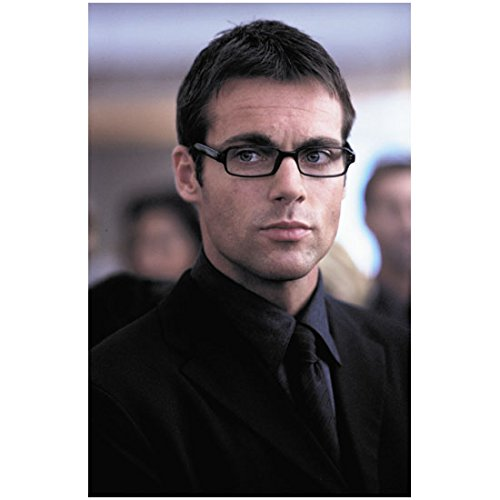 Michael Shanks 8 inch by 10 inch PHOTOGRAPH Stargate SG-1 Stargate: Continuum Stargate: The Ark of Truth Looking Like a Sexy Nerd in Black Rimmed Glasses - Nerd Celebrity Glasses