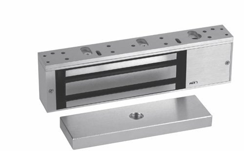(Rutherford Controls 8310-28 MultiMag Brushed Anodized Aluminum Single Electromagnetic Lock, 12/24 VDC (Pack of 1) by Rutherford Controls)