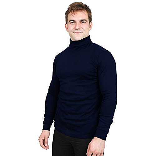 Utopia Wear Premium Cotton Blend Interlock Turtleneck Men Shirt