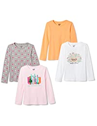 Spotted Zebra girls 4-Pack Long-Sleeve T-Shirts T-Shirt