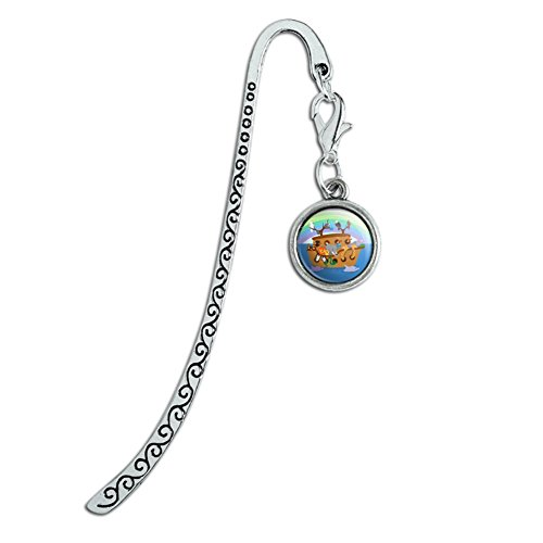 - Noah's Ark with Animals Metal Bookmark Page Marker with Charm