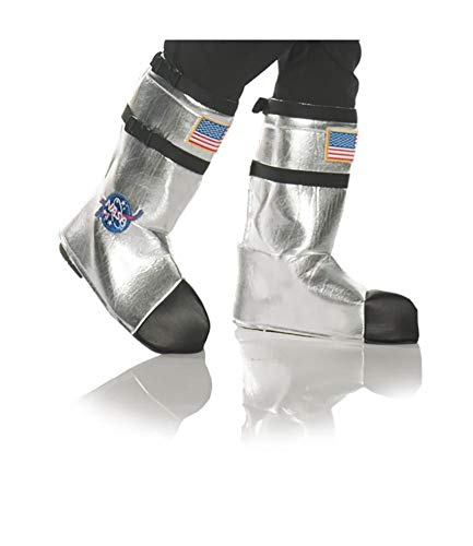 Underwraps Unisex Adult Astronaut Boot Top Covers Costume-White, One Size