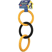 JW Pet Company Invincible Chains LT Triple Dog Toy, Large (Colors Vary)