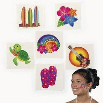 Fun Express Tropical Glitter Tattoos