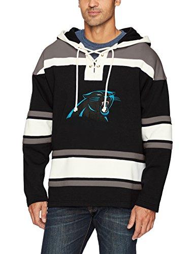 (NFL Carolina Pantshers Men's Ots Lacer Pullover Hood, Large, Jet Black)