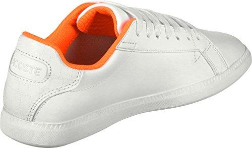 1 W Calzado Lacoste 118 Blanco Naranja Graduate qwtxE10