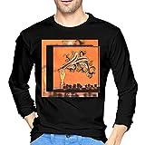 MarshallD Men's Arcade Fire Funeral Cotton Long Sleeve Tshirt Black L