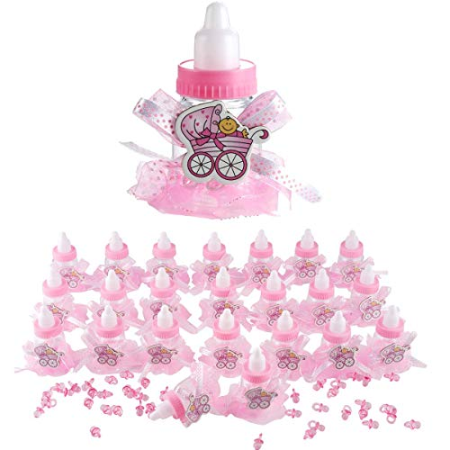 24pcs Cute Feeding Bottle Shape Candy Boxes for Event Christening Party Favors Baby Shower Centerpiece Decoration ()