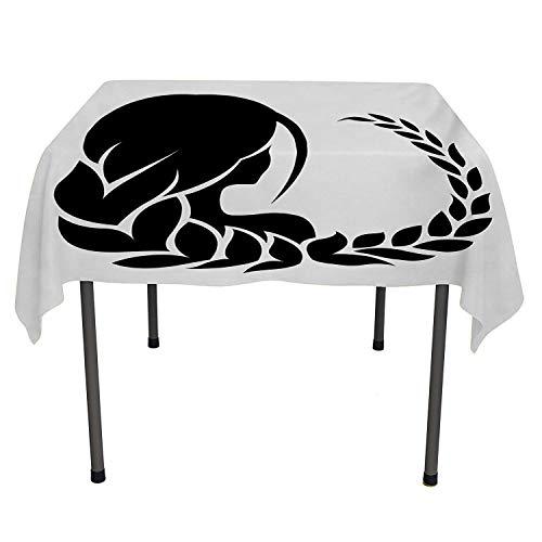 50s Hairdos - Zodiac Virgo Dinning Tabletop Decoration Back