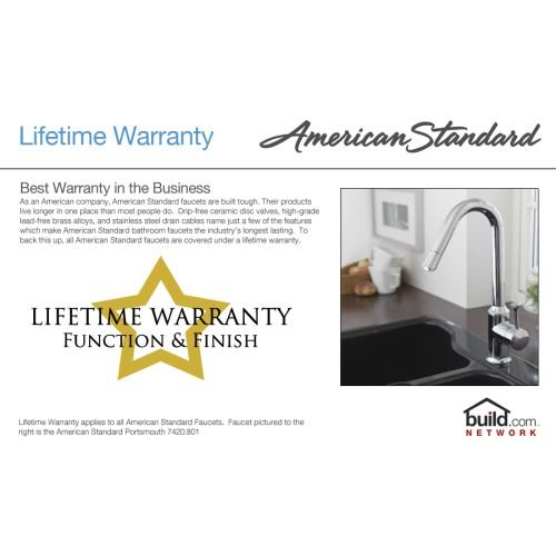 012611268618 - American Standard 7298.252.002 Heritage Wall-Mount 8-Inch Swivel Spout Kitchen Faucet with Porcelain Lever Handles, Chrome carousel main 2