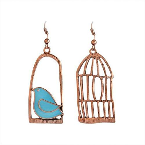 IUTING Vintage Earrings Fashion Designer Oil Bird Alloy Bird-Cage Lovely Drop Earring