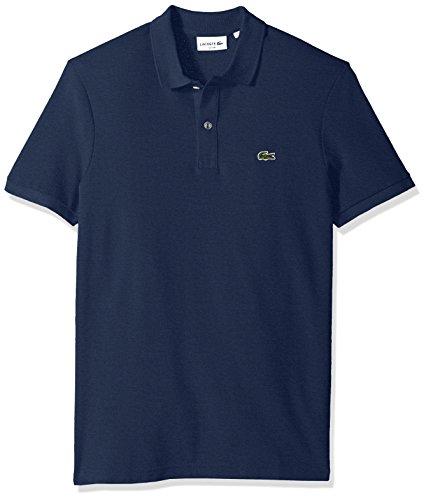 Lacoste Men's Short Sleeve Classic Pique Slim Fit Polo Shirt, Nocturnal Blue Chine, X-Large