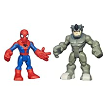 Playskool Heroes Spider-Man and Rhino Figures