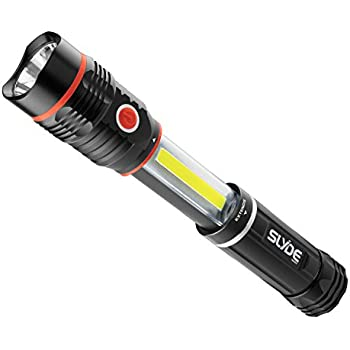 :Nebo 300 lm SLYDE+ LED Flashlight 200 lm Work Light (4 AAA Batteries Included), Black