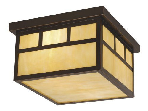 Vaxcel OF37211BBZ Mission 12-Inch Outdoor Ceiling Light, Burnished Bronze by Vaxcel