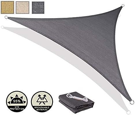 AXT SHADE Toldo Vela de Sombra Triangular 3 x 3 x 4, 25 m ...