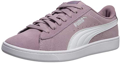 PUMA Women's Vikky Sneaker Elderberry Whit, 8.5 M US (Shoes Womens Purple Puma)