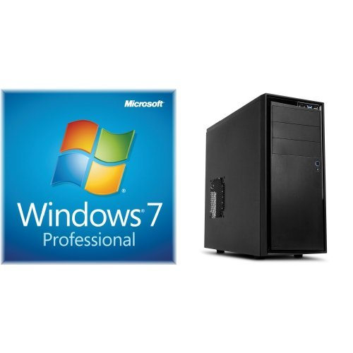 Windows 7 Professional SP1 64bit (OEM) System Builder DVD 1 Pack with NZXT Source 210 ELITE Midtower Case with 3.0 USB - Black