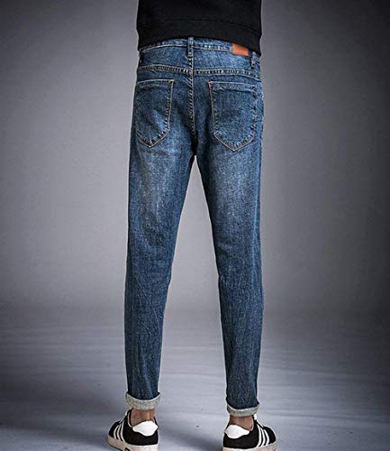 Cool Slim Strappati Da Fit Pantaloni Casual Blau1 Uomo N Jeans Straight p0tqwFBw8