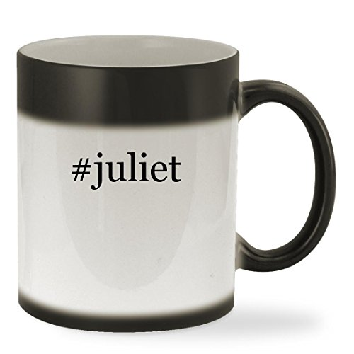 #juliet - 11oz Hashtag Color Changing Sturdy Ceramic Coffee Cup Mug, Black