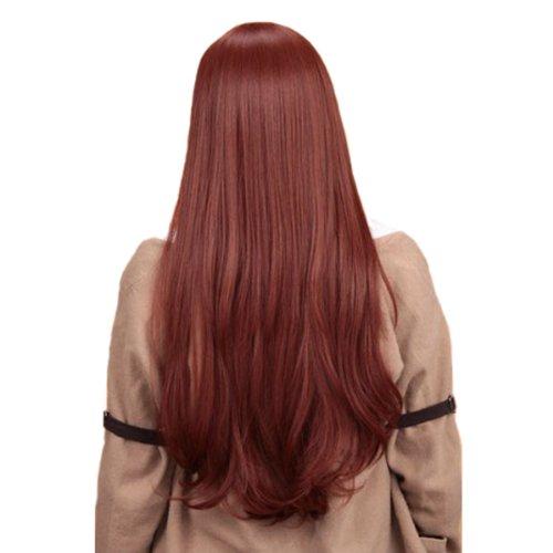 [Angelaicos Women's Curly Anime Party Cosplay Costume Wig Long Brown] (Kurisu Makise Cosplay Costume)