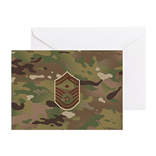 (CafePress U.S. Air Force: E-8 1St Sergeant (Ca Greeting Card, Note Card, Birthday Card, Blank Inside Matte)
