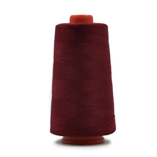 (Polyester Sewing Thread Spool for Hand and Machine Sewing 3000 Yards Each Wine Red)