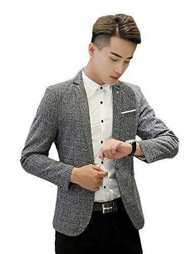 Da Casual Design Grau Giacche Ablazer Club Sweatjacket Sportiva Adelina Bottone Giacca Slim 1 Formali Fit Uomo Abbigliamento Con Rfw0AEq