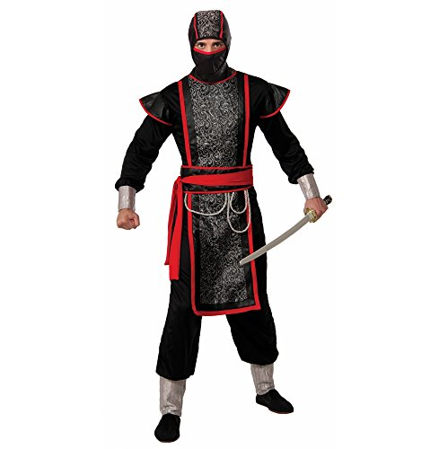 Forum Novelties Men's Ninja Master Costume with Hood, Multi, One (Ninja Master Adult Costumes)