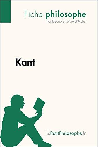 Kant (Fiche philosophe): Comprendre la philosophie avec lePetitPhilosophe.fr (French Edition)