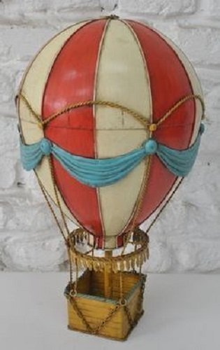 Hot Air Balloon Balloon Sheet Metal Model Tin Model Vintage Balloon approx. 21 x 35 cm 37424
