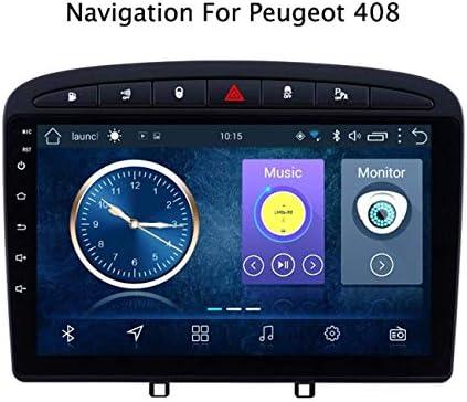 DUMXY Android 8.1 Car Stereo Autoradio GPS Navegación para Peugeot 308 408(2010-2016) con Canbus 9